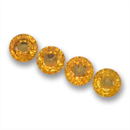 Golden Orange Sapphire Gem - 0.5ct Round Facet (ID: 460855)