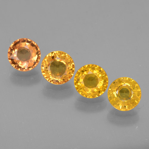 Yellow Sapphire Gem - 0.7ct Round Facet (ID: 460897)