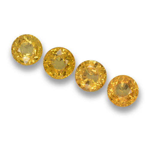 Yellow Sapphire Gem - 0.6ct Round Facet (ID: 460899)