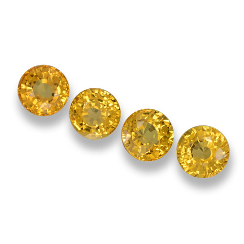 Yellow Sapphire Gem - 0.6ct Round Facet (ID: 460978)