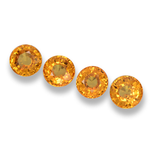 Yellow Sapphire Gem - 0.7ct Round Facet (ID: 460981)