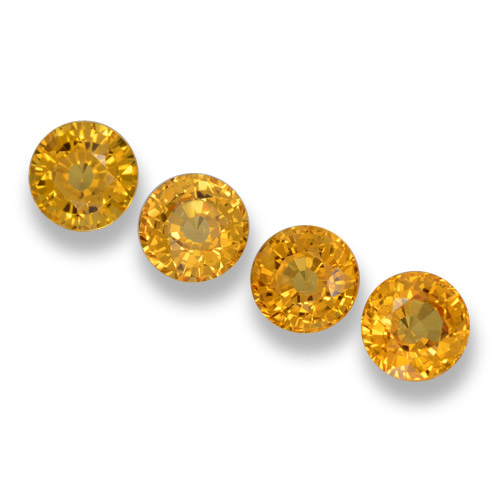 Yellow Sapphire Gem - 0.7ct Round Facet (ID: 460983)