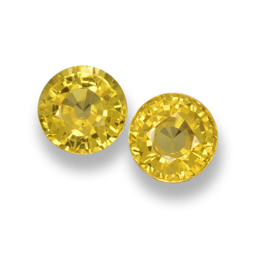 Deep Yellow Zafiro Gema - 0.6ct Faceta Redonda (ID: 461038)