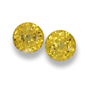 Light Honey Yellow Sapphire Gem - 0.7ct Round Facet (ID: 461039)