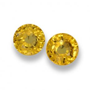 Yellow Sapphire Gem - 0.6ct Round Facet (ID: 461041)