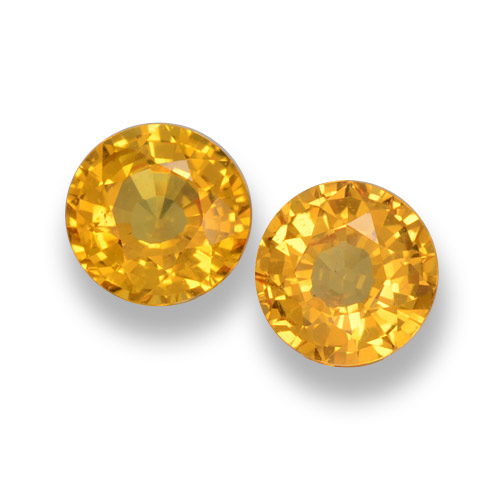 0.6ct Round Facet Medium Golden Sapphire Gem (ID: 461042)
