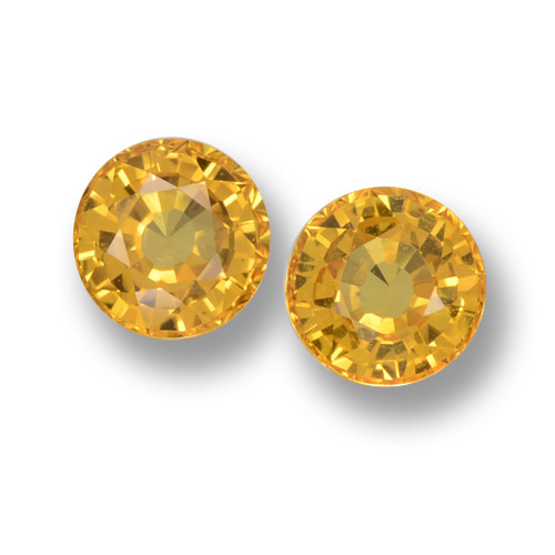 Yellow Golden Sapphire Gem - 0.7ct Round Facet (ID: 461045)