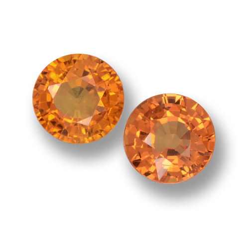 Medium Orange Sapphire Gem - 0.7ct Round Facet (ID: 461048)