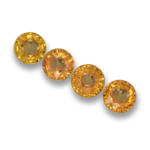 Yellow Sapphire Gem - 0.6ct Round Facet (ID: 461049)