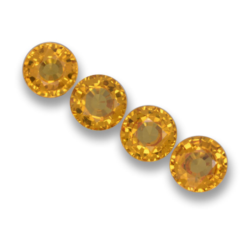 Deep Orange-Gold Sapphire Gem - 0.6ct Round Facet (ID: 461059)