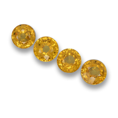 Yellow Sapphire Gem - 0.6ct Round Facet (ID: 461139)