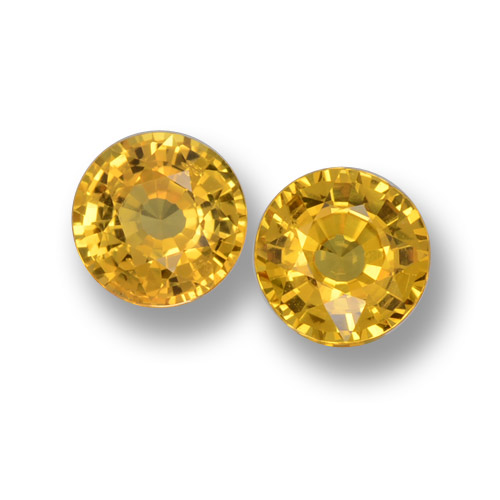 Yellow Sapphire Gem - 0.6ct Round Facet (ID: 461186)