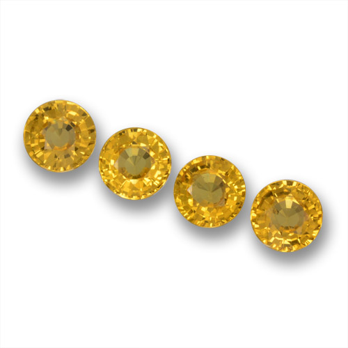 Yellow Sapphire Gem - 0.6ct Round Facet (ID: 461247)