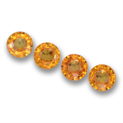 Apricot Orange Zafiro Gema - 0.6ct Faceta Redonda (ID: 461251)