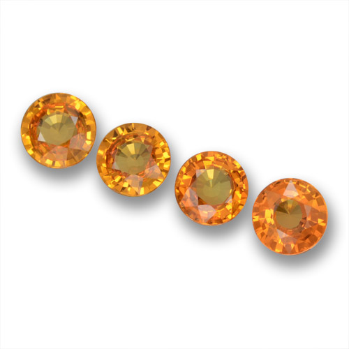 Yellow Golden Sapphire Gem - 0.5ct Round Facet (ID: 461253)