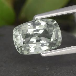 Light Green Sapphire Gem - 1.3ct Cushion-Cut (ID: 461267)
