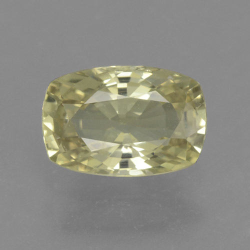 Medium Yellow Zafiro Gema - 1.1ct Corte en Forma Cojín (ID: 461269)
