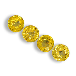 Yellow Golden Sapphire Gem - 0.6ct Round Facet (ID: 461332)