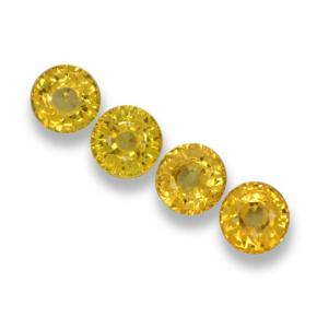 Yellow Sapphire Gem - 0.6ct Round Facet (ID: 461336)
