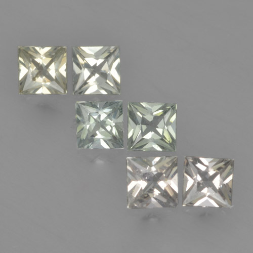 Green Sapphire Gem - 0.2ct Princess-Cut (ID: 461374)