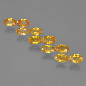 Yellow Golden Sapphire Gem - 0.3ct Oval Facet (ID: 461968)
