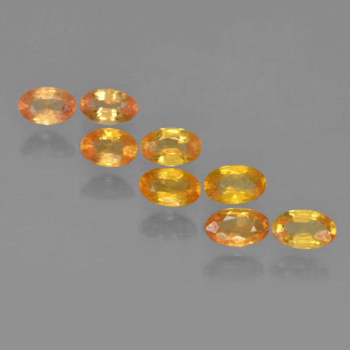 Yellow Golden Sapphire Gem - 0.3ct Oval Facet (ID: 461969)