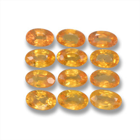 Yellow Golden Sapphire Gem - 0.4ct Oval Facet (ID: 461987)