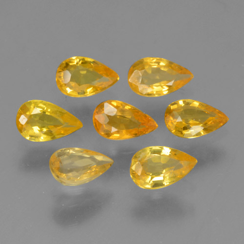 Yellow Golden Sapphire Gem - 0.3ct Pear Facet (ID: 462021)