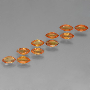 Orange Sapphire Gem - 0.1ct Marquise Facet (ID: 462039)