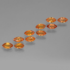 Orange Sapphire Gem - 0.2ct Marquise Facet (ID: 462040)