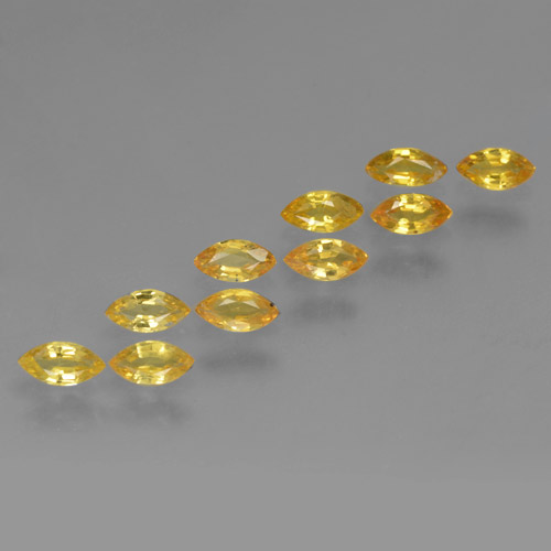 Yellow Golden Sapphire Gem - 0.2ct Marquise Facet (ID: 462042)