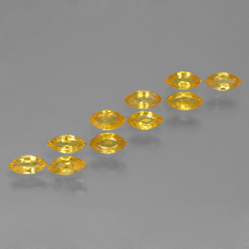 Golden Sapphire Gem - 0.2ct Marquise Facet (ID: 462044)