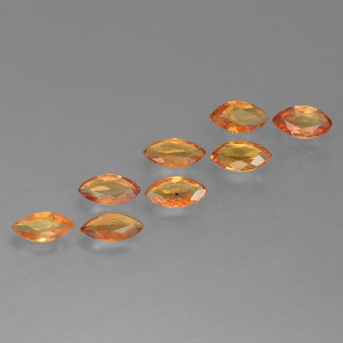 Orange Sapphire Gem - 0.2ct Marquise Facet (ID: 462078)