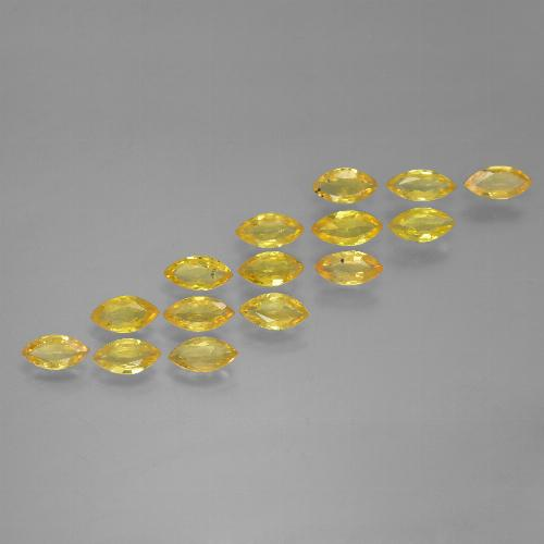 Yellow Golden Sapphire Gem - 0.2ct Marquise Facet (ID: 462080)