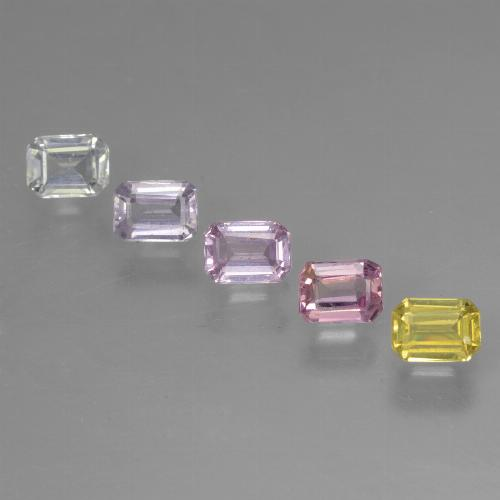 Multicolor Sapphire Gem - 0.3ct Octagon Step Cut (ID: 462106)