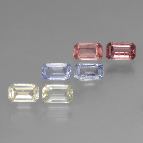 thumb image of 0.3ct Octagon Step Cut Multicolor Sapphire (ID: 462107)