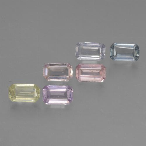 Multicolor Sapphire Gem - 0.3ct Octagon Step Cut (ID: 462110)