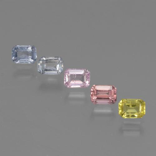 Multicolor Sapphire Gem - 0.3ct Octagon Step Cut (ID: 462145)