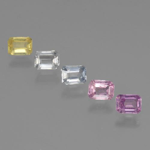 Multicolor Sapphire Gem - 0.3ct Octagon Step Cut (ID: 462146)