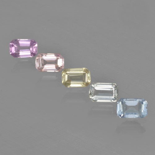 Multicolor Sapphire Gem - 0.4ct Octagon Step Cut (ID: 462168)