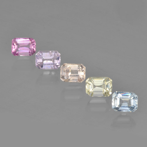 Multicolor Sapphire Gem - 0.3ct Octagon Step Cut (ID: 462177)