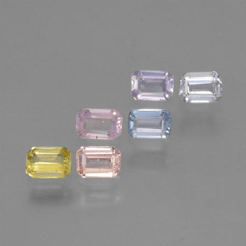 Multicolor Sapphire Gem - 0.3ct Octagon Step Cut (ID: 462204)
