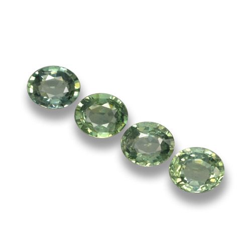 Green Sapphire Gem - 0.7ct Oval Facet (ID: 462383)
