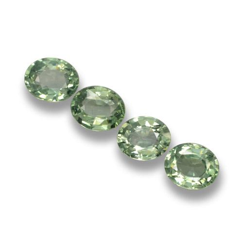 Green Sapphire Gem - 0.8ct Oval Facet (ID: 462384)