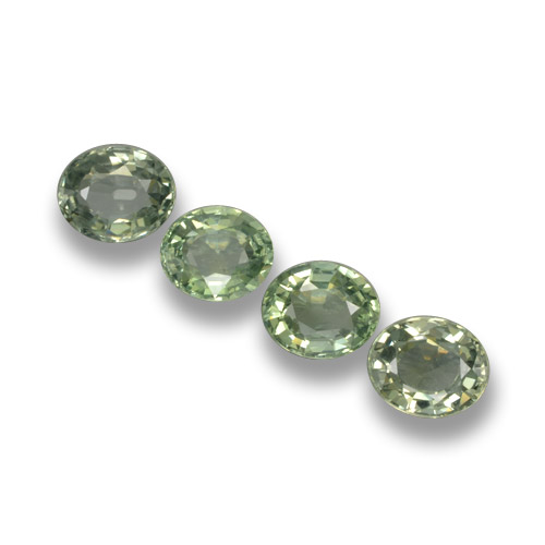 Forest Green Sapphire Gem - 0.8ct Oval Facet (ID: 462387)