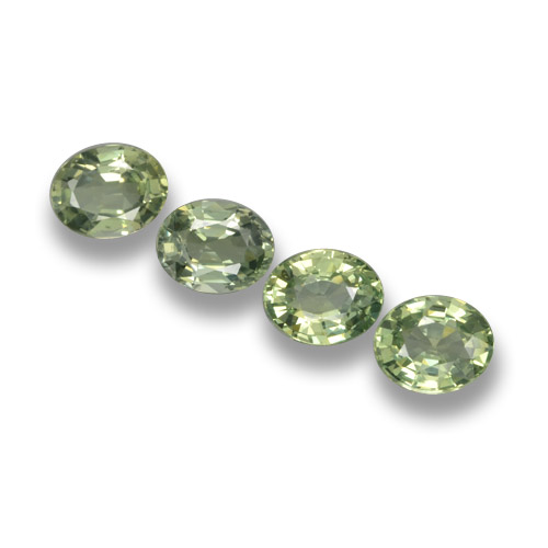 Green Sapphire Gem - 0.7ct Oval Facet (ID: 462390)