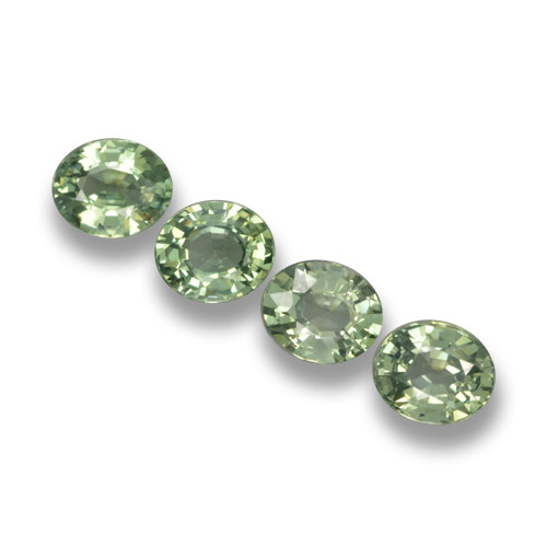Green Sapphire Gem - 0.8ct Oval Facet (ID: 462391)