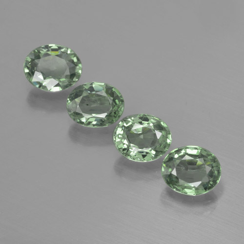Green Sapphire Gem - 0.8ct Oval Facet (ID: 462542)