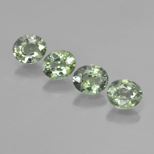 Green Sapphire Gem - 0.7ct Oval Facet (ID: 462544)