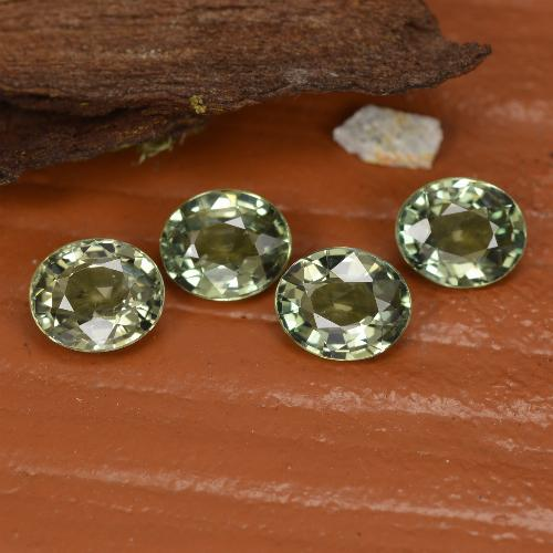 Green Sapphire Gem - 0.8ct Oval Facet (ID: 462548)